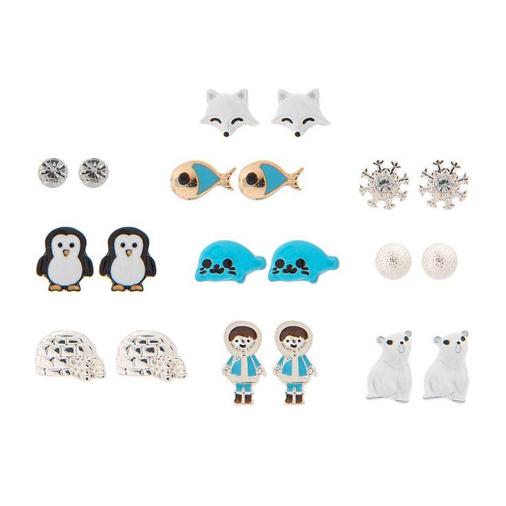 9 Pack Antarctic Stud Earrings