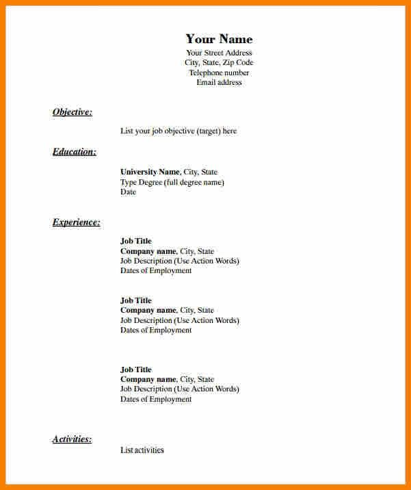 create a free resume blank resume templates free samples examples format - Online Resume Generator Free