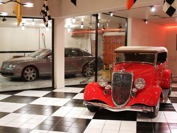 In my opulent dream...my garage houses both vintage classic autos and modern sports exotics. It also comes with its own car wash!