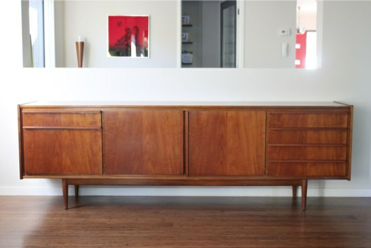 Parker Furniture. Mid Century Danish. Amazing large Parker sideboard. Late 1960's. Perfect original condition.