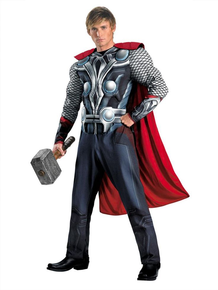 disguise costumes marvels avengers movie thor avengers classic muscle adult costume redwhitesilver disguise apparel accessories see all 151 items - Classic Mens Halloween Costumes