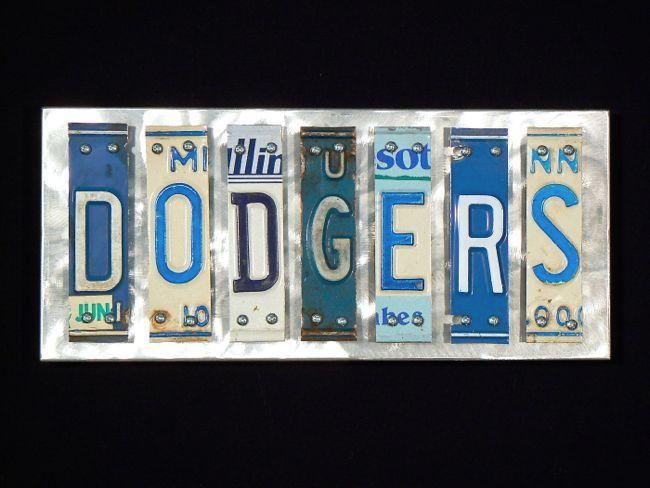 "Los Angeles ""Dodgers"" License Plate Art"