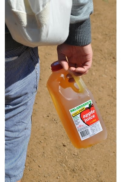 Delgrosso's Apple Juice - part of our breakfast hampers