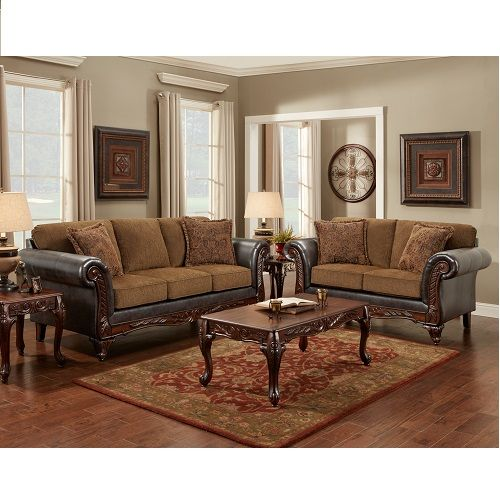 wink chestnut sofa loveseat set by affordable furniture 99999 7dayfurniturenet - Best Affordable Sofa