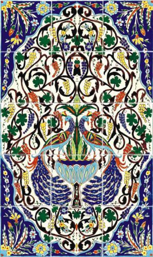 I got obsessed with Armenian pottery and tile when I visited Jerusalem.  The peacocks are my favorite design.