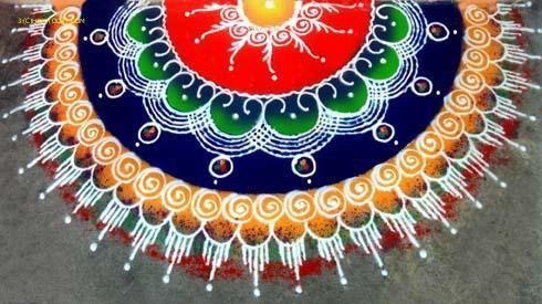 In THANE One Day Rangoli Workshop - by RANGVALLI PARIVAR