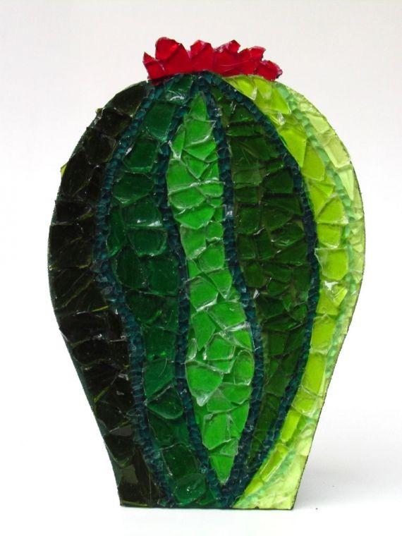 Mundo Cactus  Cactus chico 6 - Esculturas - Arte - 15 cm de ancho x 22 cm de alto