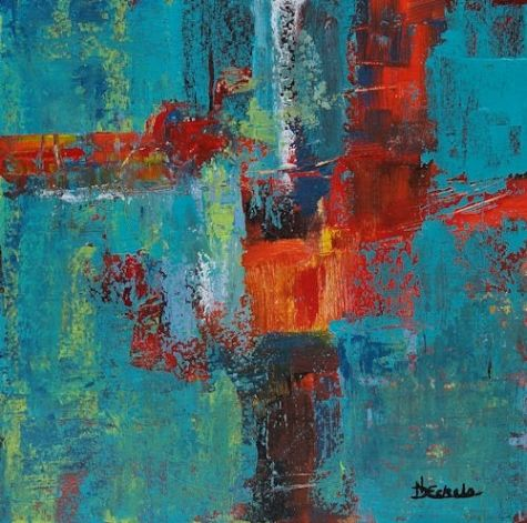 Moments by Nancy Eckels - abstract contemporary, modern art, painting -- Nancy Eckels