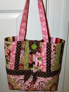 Scrappy quilted purse
