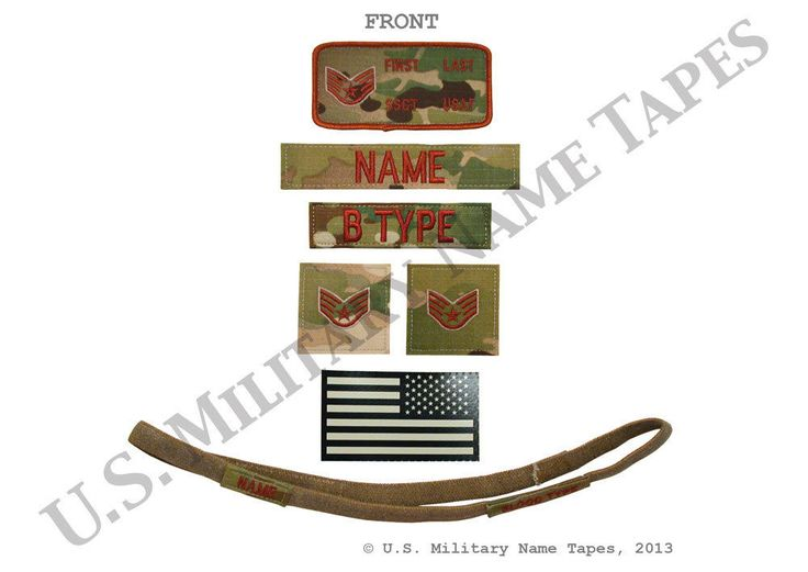 Other Uniforms and Work Clothing 163528: U.S. Air Force Fr Ocp Abs-G 2 X4 , Name Tape, Helmet Band And Rank Patch Set -> BUY IT NOW ONLY: $33.95 on eBay!