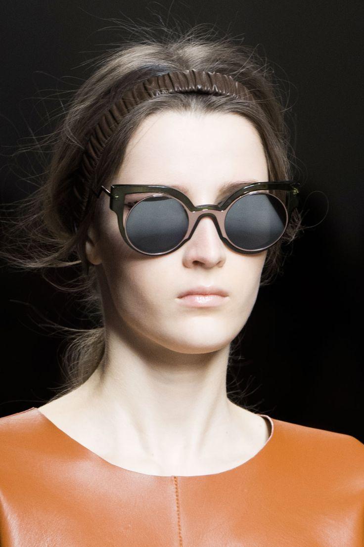 Fendi olive green and mirrored copper sunglasses