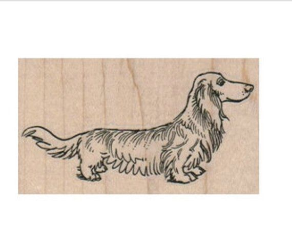 Rubber Stamp Wiener Dog Dachshund Dachshunds Dogs Longhaired