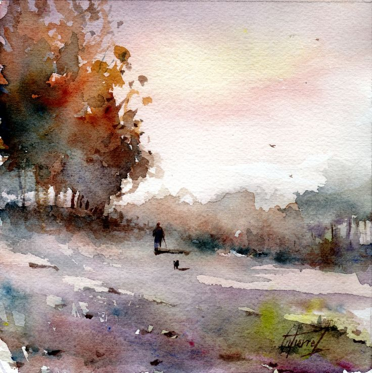 EN PROVENCE Par Pierre Gutierrez #watercolor jd