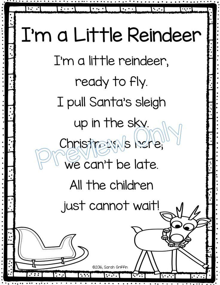 I M A Little Reindeer Christmas Poem For Kids