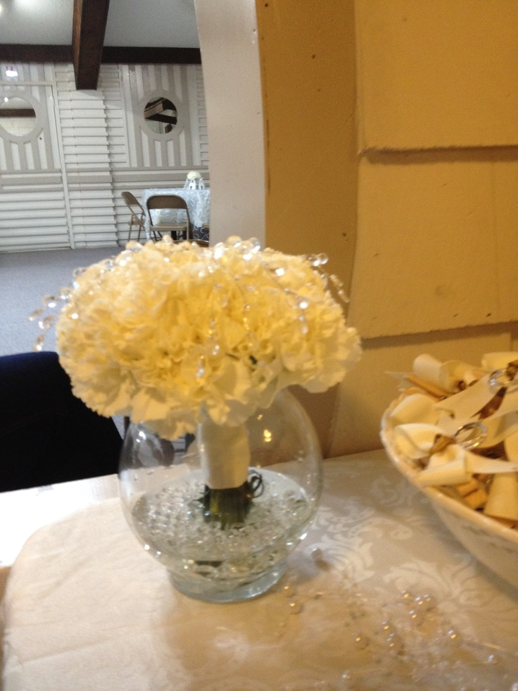 Bridal shower flower arrangements by yours truly