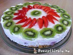 Tejszínkrémes gyümölcstorta | Receptkirály.hu