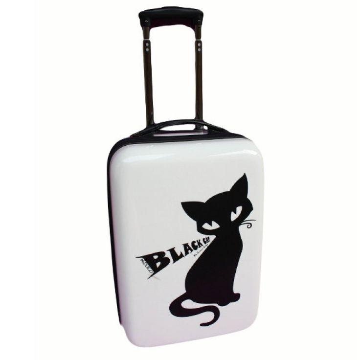 HDUEO -  gatto  trolley cabina bianco 2ruote