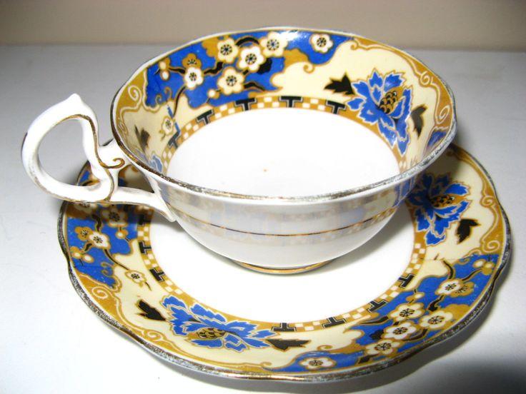 Vintage Rare Royal Albert Crown China Hawthorne Tea Cup