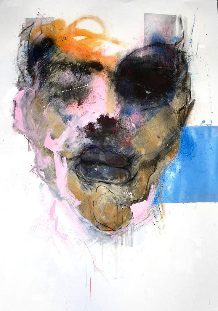 """Saatchi Art Artist Schalk van der Merwe; Painting, """"Visceral #58"""" #art"""