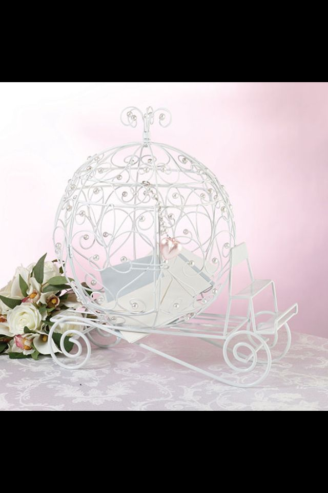 fairy tale white beaded coach card holder wedding card boxes fairytales do come true so show your cinderella style at your event with the fairytale white