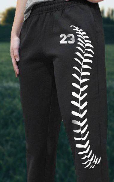 Softball sweatpants - a great custom gift idea!