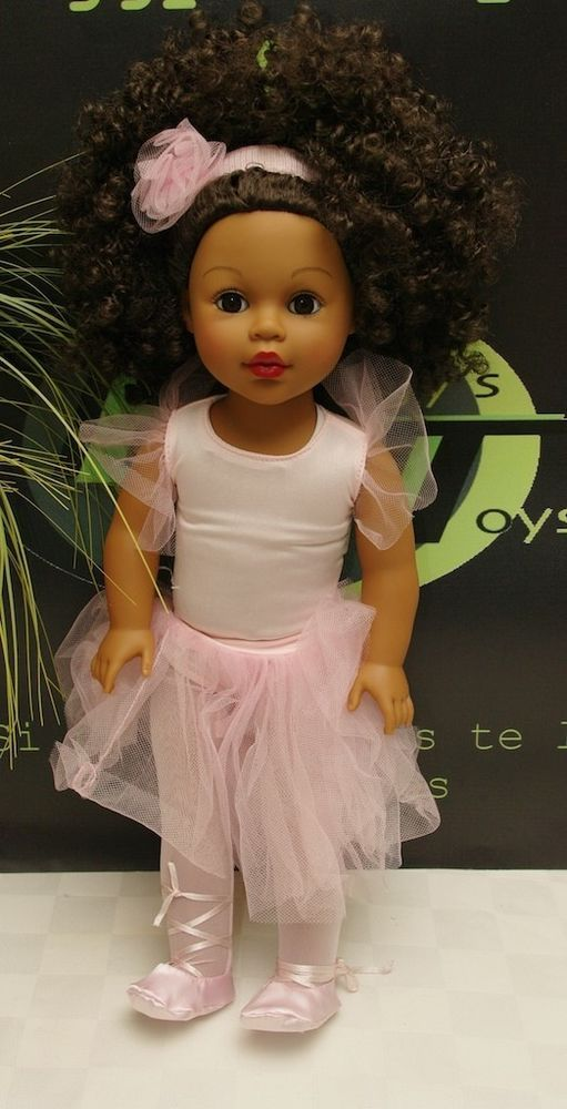 "Madame Alexander 18"" Ballerina Doll African American Curly Black Hair Cute"