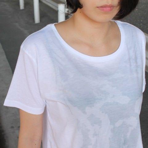 濡れ透けスクール水着Tシャツ