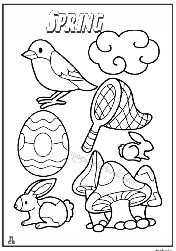 66 best Coloring: Seasons: Spring & Summer images on
