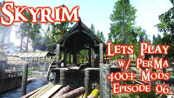 Skyrim Lets Play w/ Perkus Maximus 400+ mods Ep. 06 Whiterun Questing