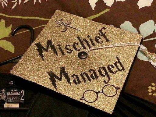 Harry Potter graduation cap.