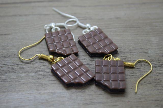 10 pair/lot смола пластины кофе шоколад печенье кулон серьги серьги падения ювелирные изделия ручной работы подарок для женщины