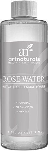 Art Naturals Rosewater Witch Hazel Toner 8 oz  Natural Anti Aging Pore Minimizer for Face  Infused with Aloe Vera for Hydrating the Face  For all Skin Types ** Learn more by visiting the image link.