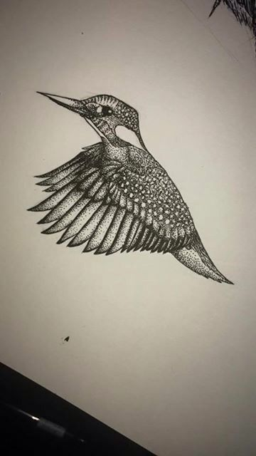 Kingfisher tattoo design                                                                                                                                                      More