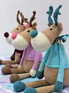 Amigurumi Reindeer Head : 794 best images about I will knit on Pinterest Free ...