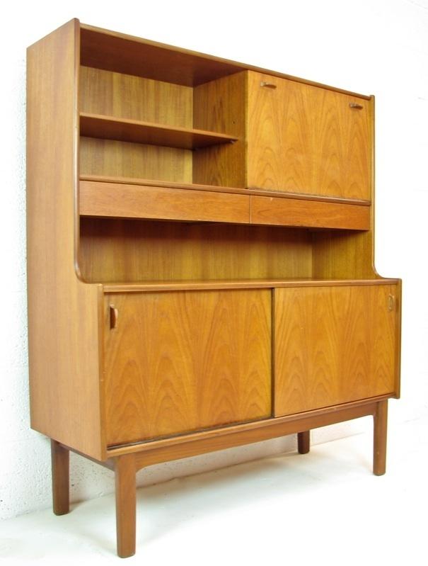 Vintage Nathan Teak Tall Sideboard Cabinet Cupboard Buffet 1970s Retr u2026