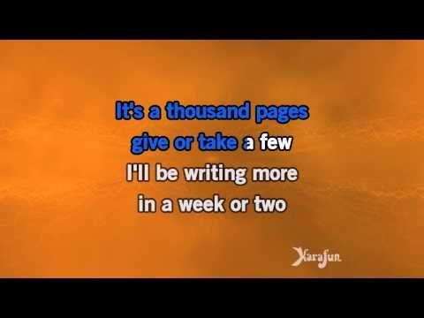 Karaoke Paperback Writer - The Beatles * - YouTube
