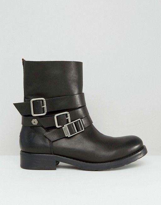 Hilfiger Denim | Байкерские ботинки с пряжками Hilfiger Denim