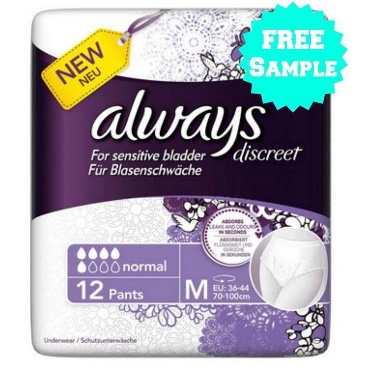 FREE Sample of Always Discreet! Free samples, Packaging