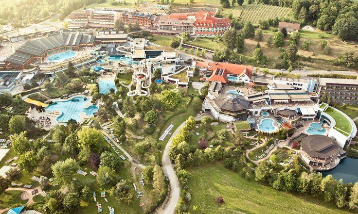 Luftaufnahme Therme Loipersdorf Thermenhotel Vier Jahreszeiten