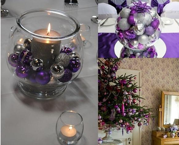 Navidad con accesorios p rpuras navidad - Decoracion de navidad para oficina ...