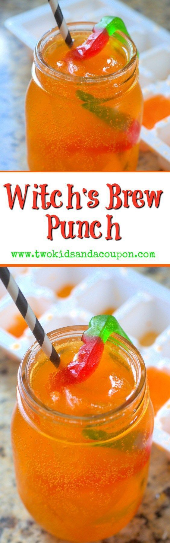 Looking for an easy kids Halloween party drink? With only two ingredients this…