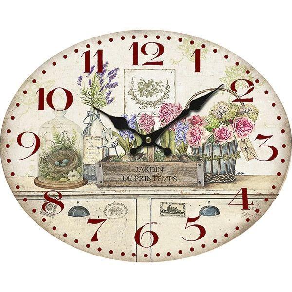 Orologio da parete muro in legno decoro shabby chic (Mis. 39x49)