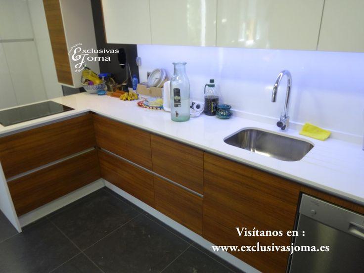 Reforma de cocina integral de chalet en tres cantos - Cocinas naranjas y blancas ...