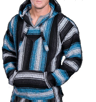Baja Hoodie Blue Candy Stripe Mens