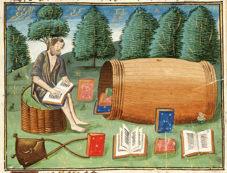Diogenes Guillaume de Tignonville, Les dits moraulx des philosophes, France ca. 1473. (Free Library of Philadelphia, Lewis E 209, fol. 21r)