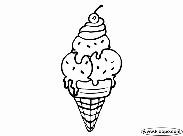 Icecream Cone Coloring Page New Free Ice Cream Cone Coloring Page