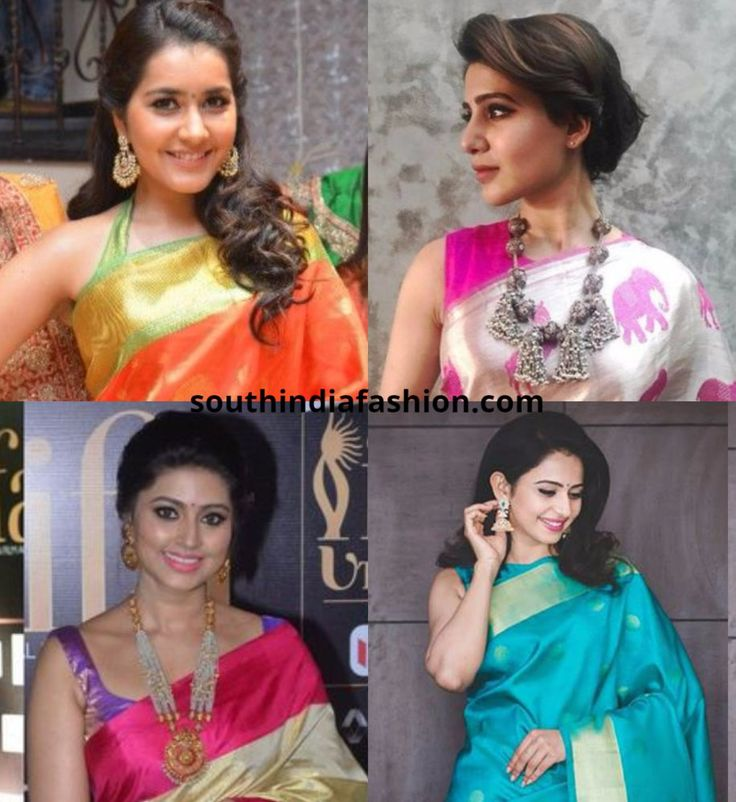 Sleeveless Blouses For Kanjeevaram Sarees