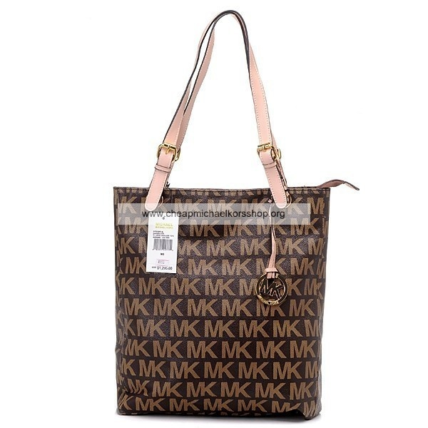 Michael Kors Logo Jet Set Tote Brown/Khaki