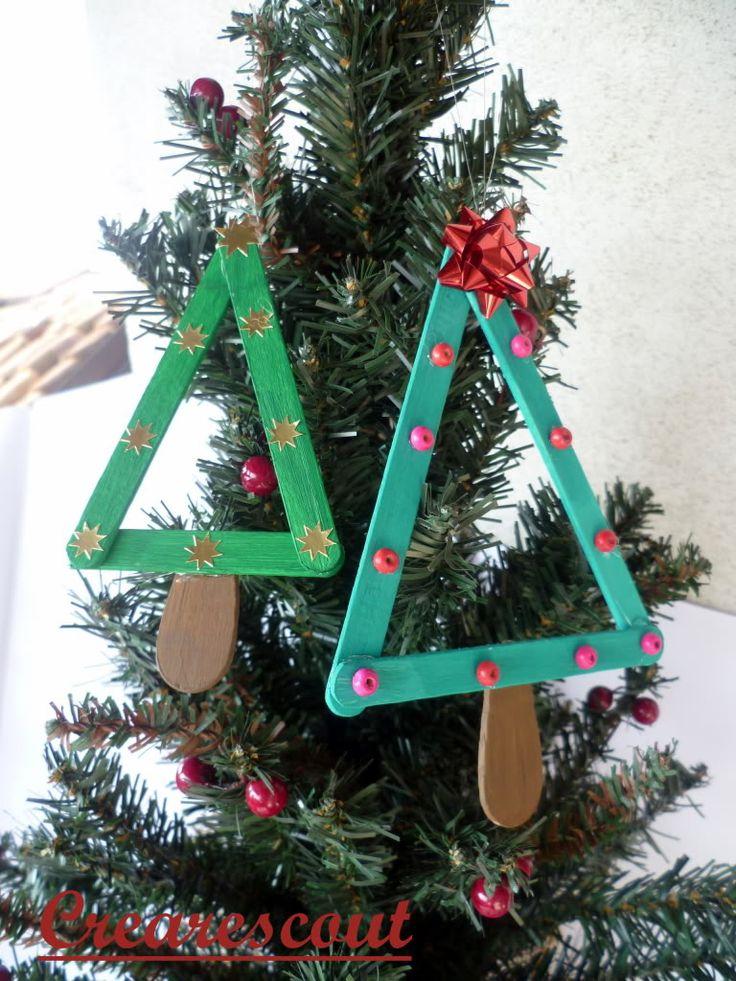 Popsicle stick Xmas tree | Creare Scout