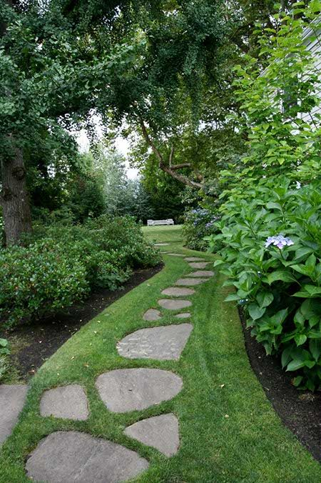 flagstone path gravel path stone pathways walkways pea gravel garden